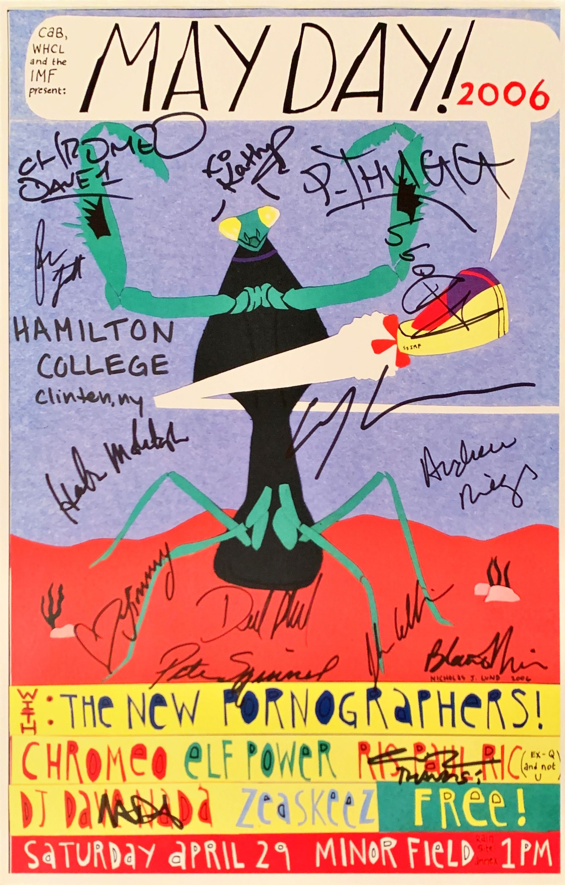 Poster for May Day Music Festival 2006