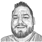 Hedcut photo of Adam Hobson
